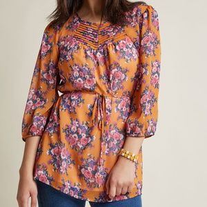 Modcloth Floral Tunic Top
